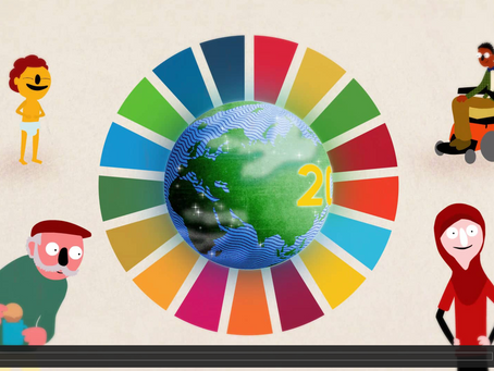 Malala introducing the World's Largest Lesson - Sustainable Development Goals.