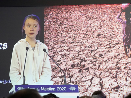Greta Thunberg. Davos. 2020 Our house is still on fire, and you're still fuelling the flames.