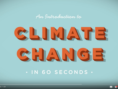 An introduction to Climate Change - in 60 seconds - by The Royal Society.