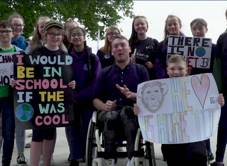 Kids urge politicians to tackle climate change now.  #TheTimeIsNow lobby 2019. BBC Newsround.