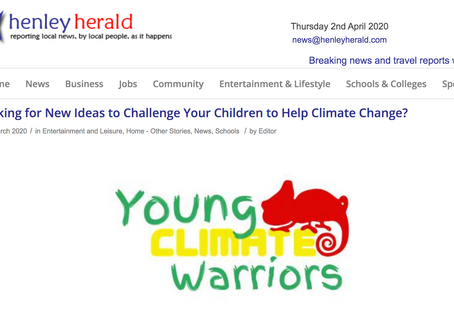 Henley Herald - Looking for new ideas to challenge your children to help Climate Change? April 2020