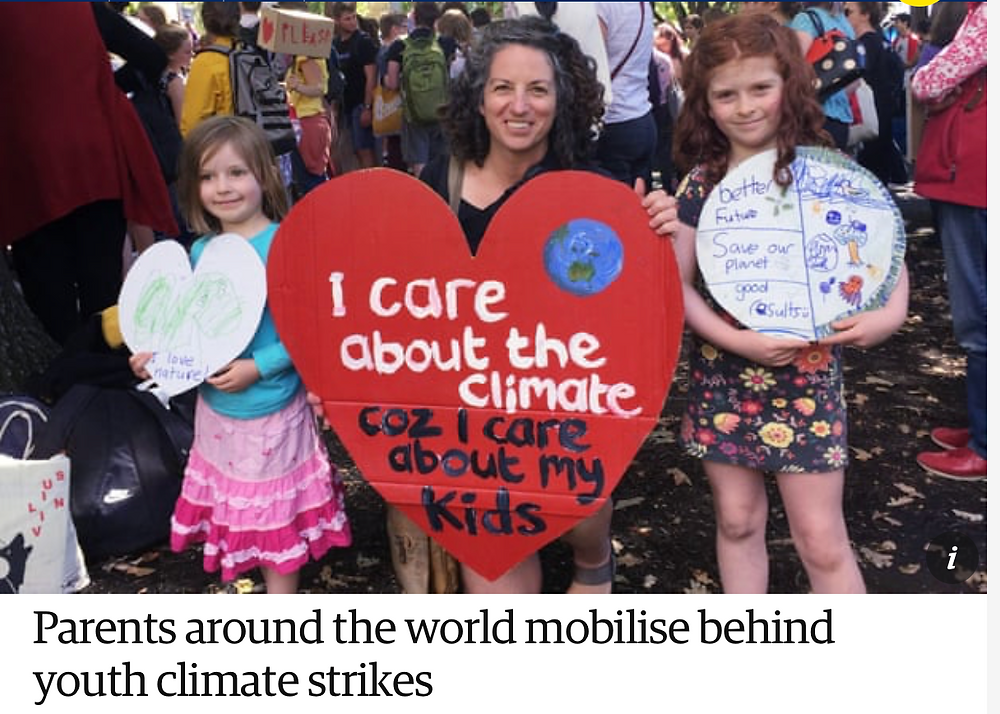 Parents mobilise behind youth climate strikes