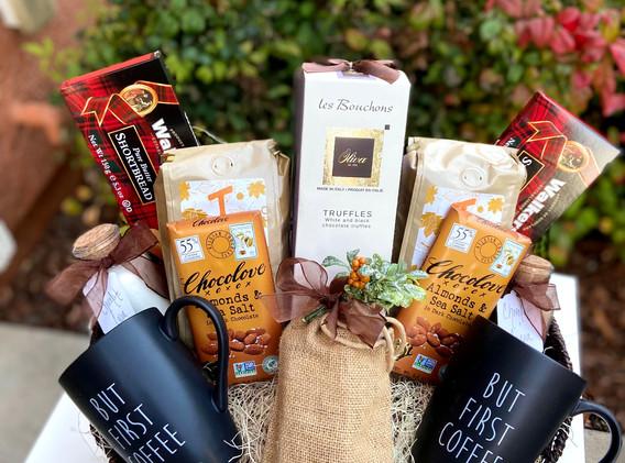 Custom Order - Coffee Themed Basket