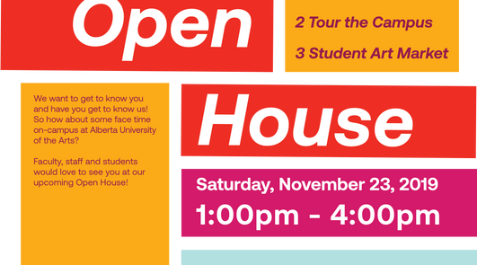 2019 AUArts Open House | Poster