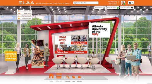 2020 AUArts | Online Booth Design