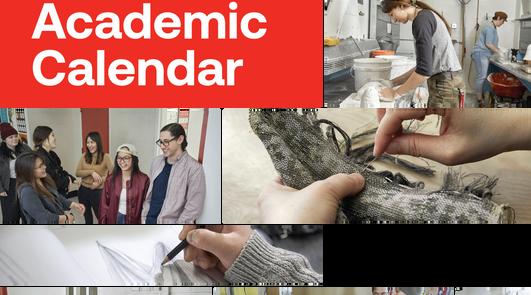 2020 AUArts | Academic Calendar Poster