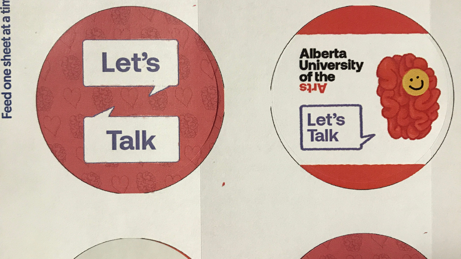 2020 Bell Let's Talk + AUArts | Stickers