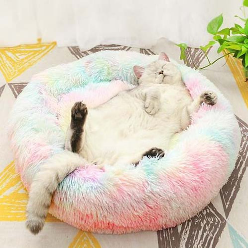 Rainbow Cat Calming Bed