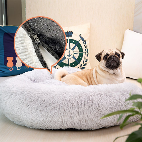 [NEW VERSION] Calming Dog Bed with Removable Cover