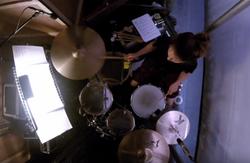 ItaliaConti_Love Me Tinder Rhoda Mcgaw Theatre Cherry T drummer UK musician female drummer