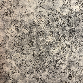 Lace paper in collaboration with Bridget O'Malley
