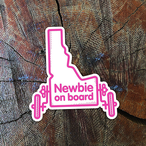 Idaho Newbie On Board Sticker