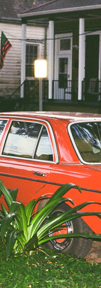 The Red Mercedes on N. Dorgenois