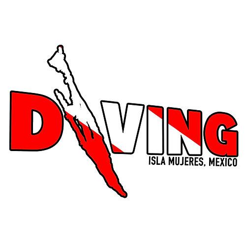 Diving Isla Sticker