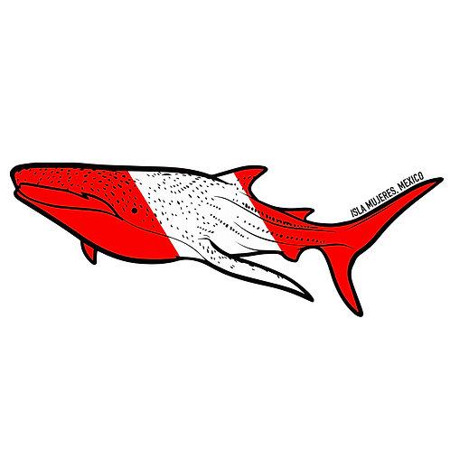 Whale Shark Dive Sticker