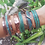 Thumbnail: Thick Rustic Copper Patina Cuff