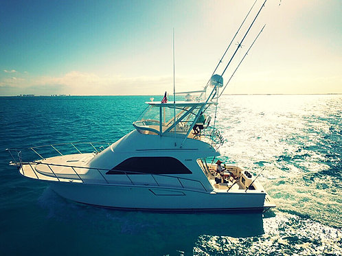 Private Yacht Cabo Flybridge 40ft - Mexico Divers