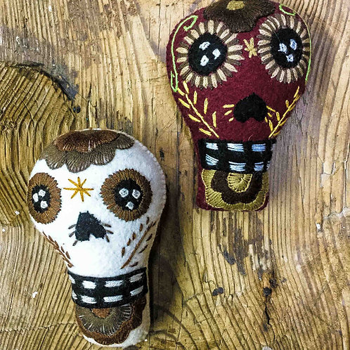 """Artisan Handmade Plush """"Calaveras"""""""