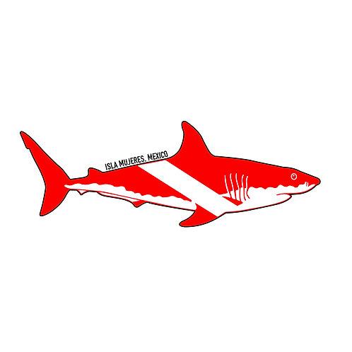 Shark Dive Sticker