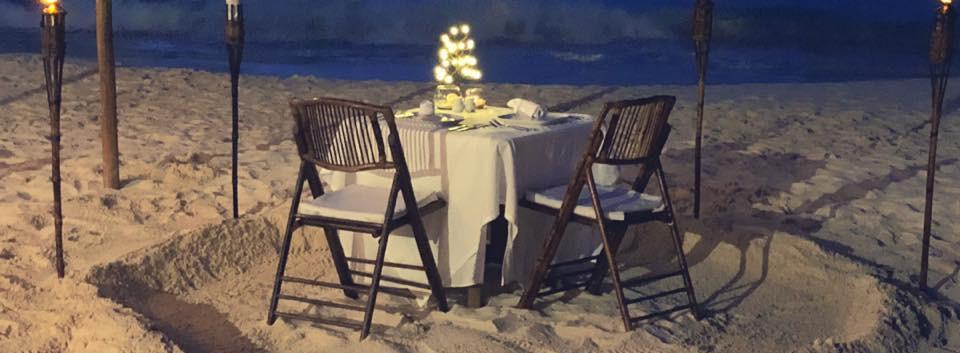 Mayan Beach Club - Romantic Dinner