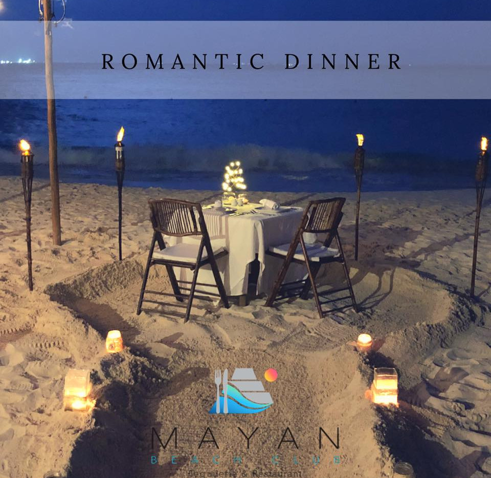 Mayan Beach Club - Romantic Dinner