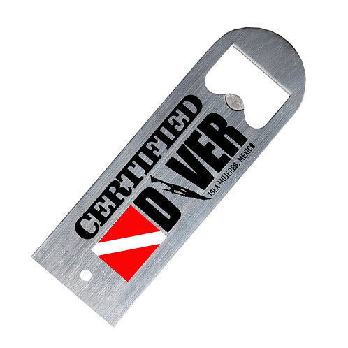 """Isla Mujeres """"Certified Diver"""" Stainless Steel Bottle Openers"""