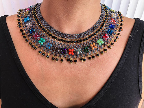Ruth Bader Ginsberg Necklace RBG Color Touch - Woman's Beading Co-op
