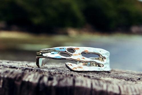 Island Bracelet Plain - Hammered