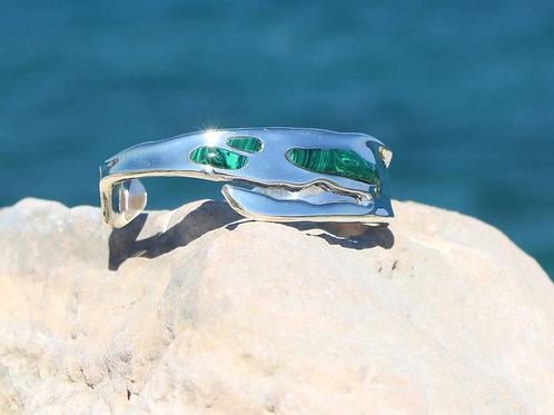 Island Bracelet with Malachite