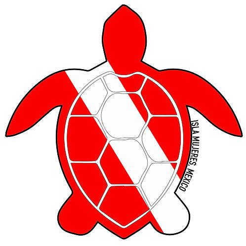 Turtle Dive Sticker