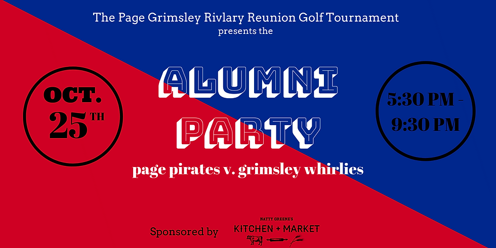 Alumni Party for Page Pirates & Grimsley Whirlies