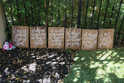 1 Corinthians aisle sign set