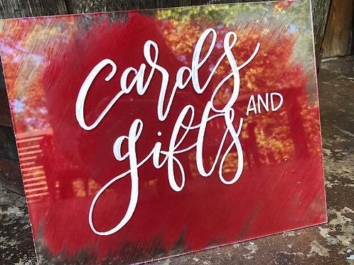 Painted Back Acrylic Cards and Gifts