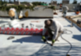 New TPO Flat Roof Installation