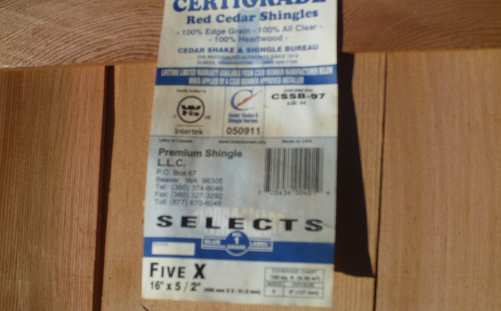 Blue Label #1  Cedar Shims