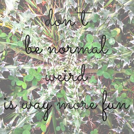 Weird is wonderful