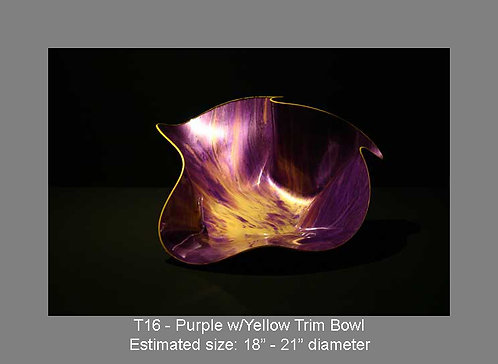 Purple w/yellow trim bowl
