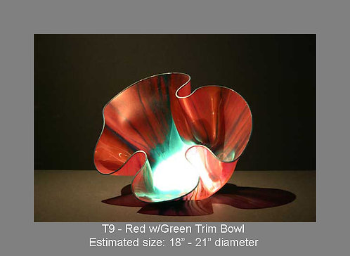 Red w/green trim bowl
