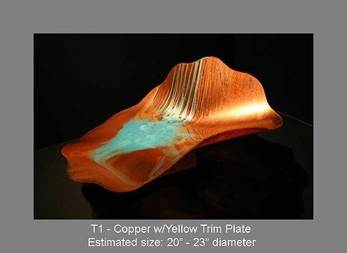 Copper w/yellow trim plate