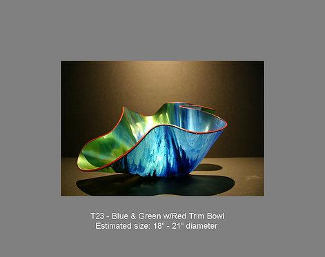 Blue & Green w/red trim bowl