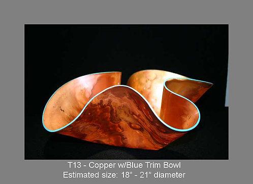 Copper w/blue trim bowl