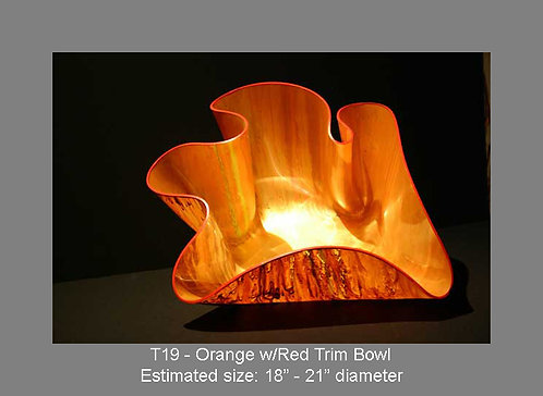 Orange w/red trim bowl