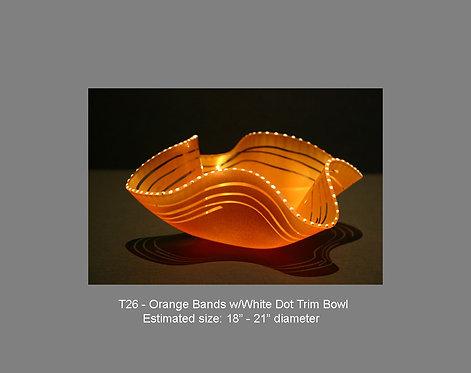 Orange Bands w/white dot trim bowl