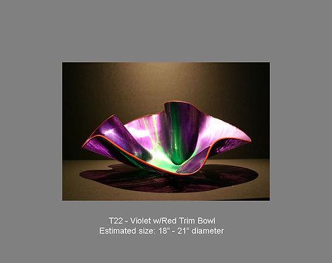 Violet w/red trim bowl