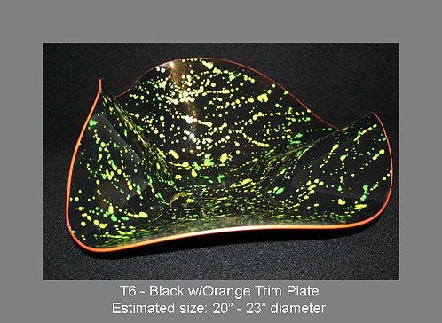 Black w/orange trim plate