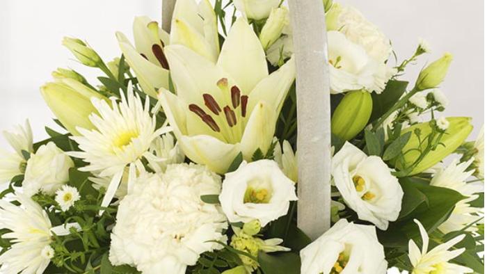 White & Lily - Basket