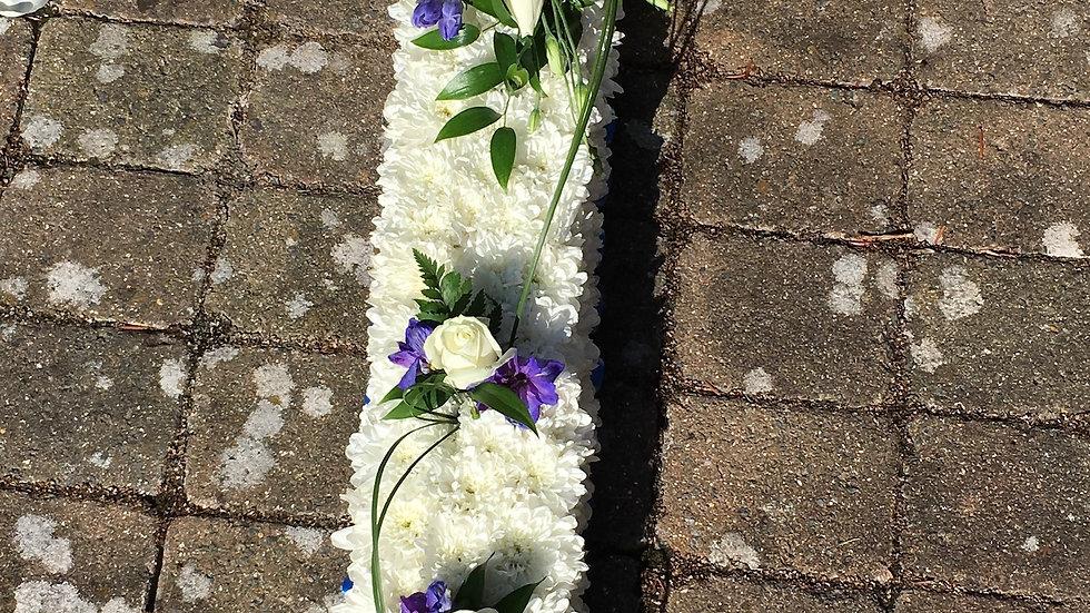 White & Purple - Cross