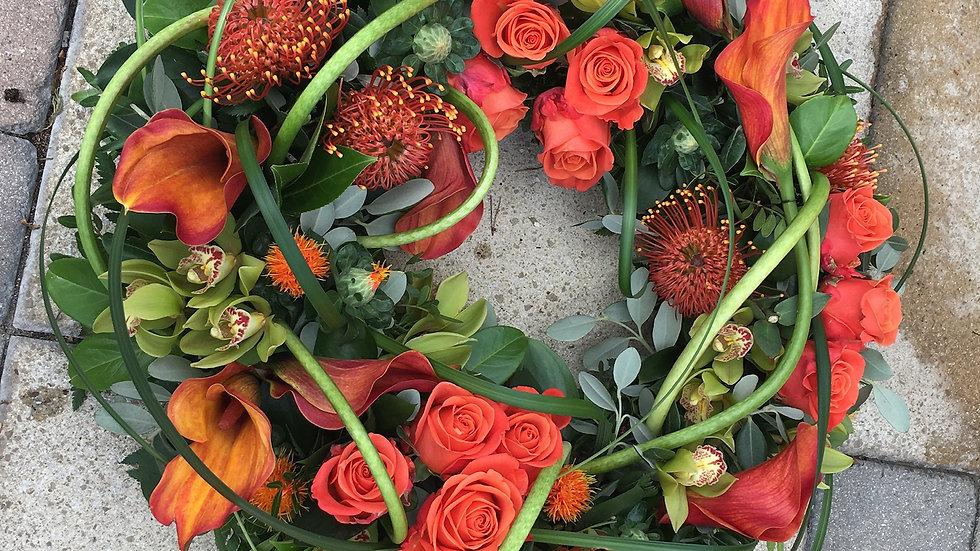 Autumn Red Wreath