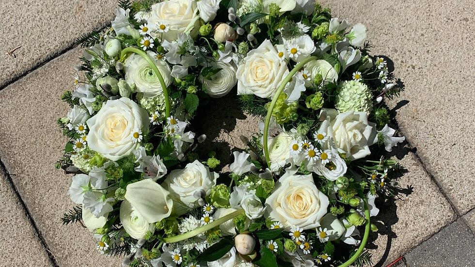 White Rose Delicate Wreath
