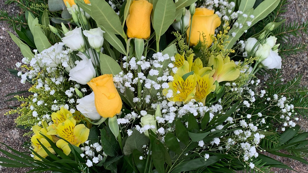 Yellow & White - Tied Sheaf